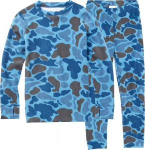 Burton Youth Fleece Set blue steel duck hunter camo | w16