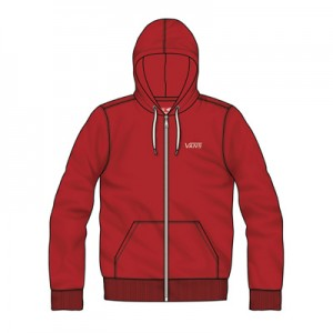 Vans Core Basics Zip Hoodie II chili pepper