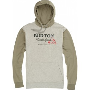 Burton Durable Goods Pullover Hoodie grey heather/light olive | SS16