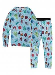 Burton 	KIDS 1ST LAYER SET EMBROIDERED FLORAL/W21