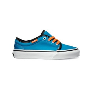 Vans Kids 106 Vulcanized (Pop) methyl blue/coral rose