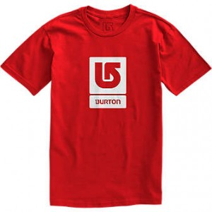 Burton Logo Vertical SS Tee fiery red